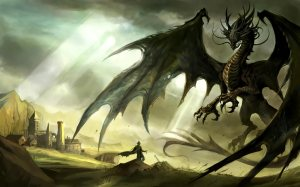 Dragon-and-Knight-desktop-backgrounds-Desktop-Wallpaper